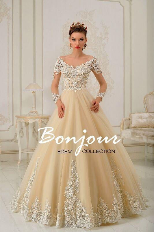 Свадебное платье напрокат Bonjour Платье свадебное «Lucia» из коллекции EDEM 2016 - фото 1
