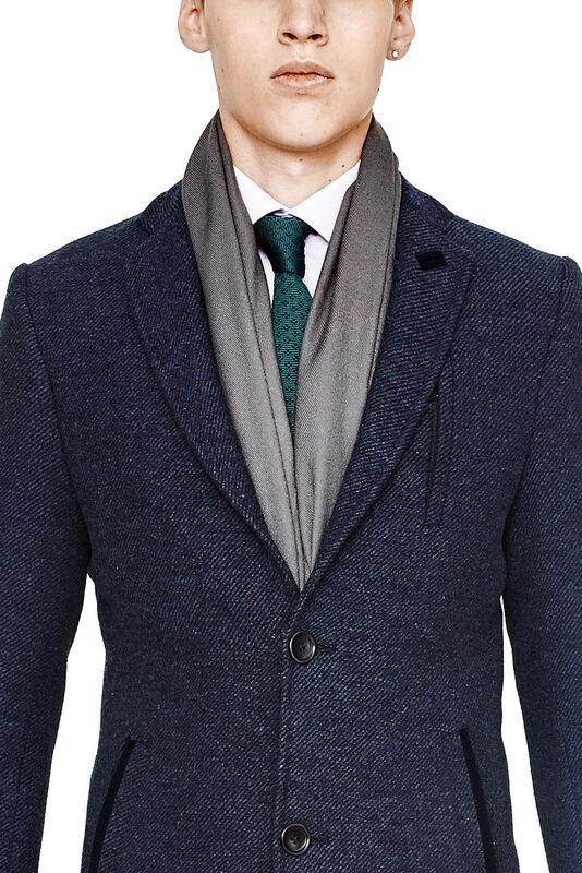 Верхняя одежда мужская HISTORIA Пальто мужское синее H01 - фото 3