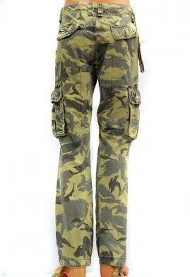 Спортивная одежда TBJ Брюки милитари карго зеленый камуфляж - фото 2