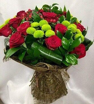 Магазин цветов Цветочник Букет роз с хризантемой - фото 1