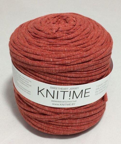 Товар для рукоделия Knit!Me Ленточная пряжа Sweetheart Jersey - Печеное яблоко (SJ111) - фото 1