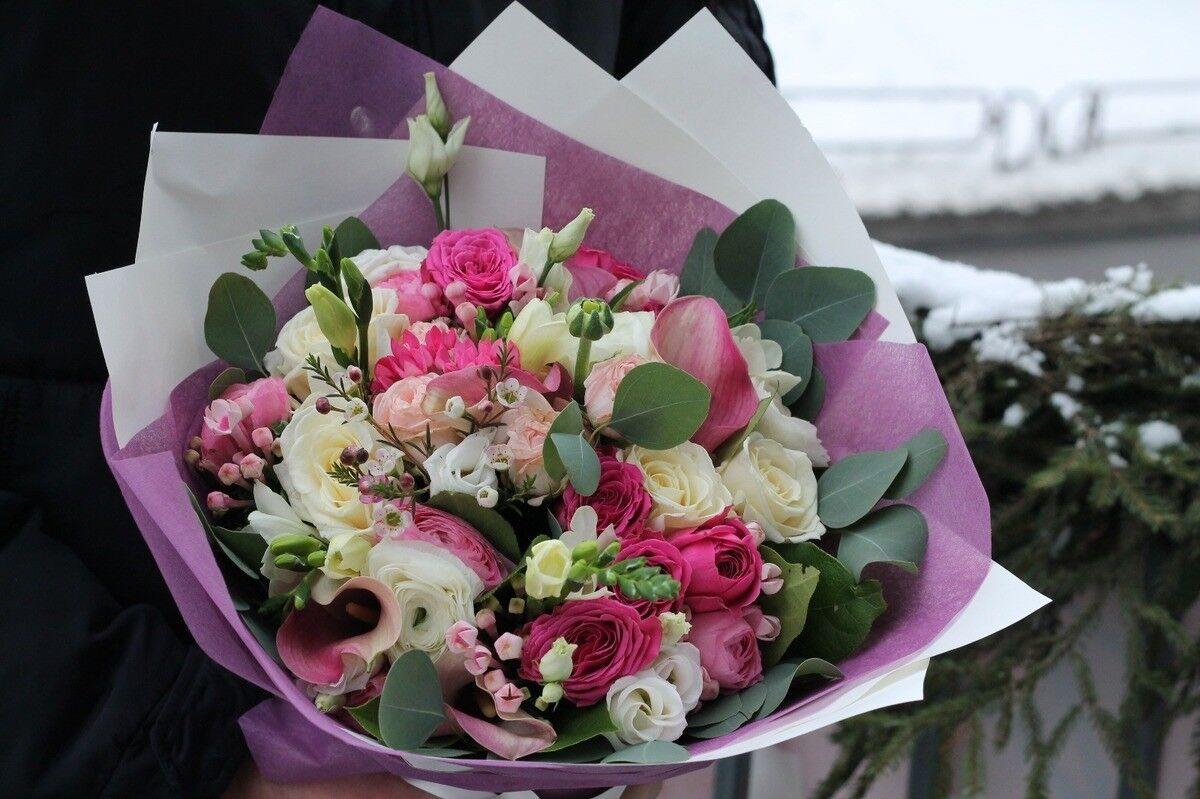 Магазин цветов Cvetok.by Букет «Ванильно-розовый» - фото 1