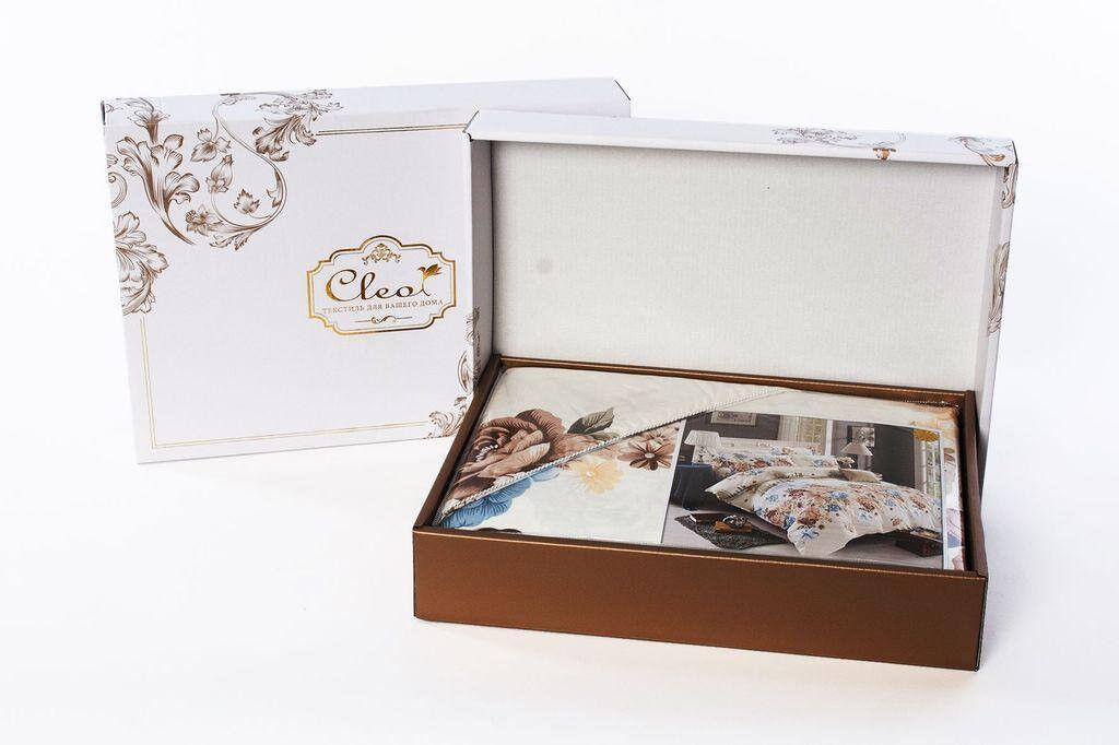 Подарок Cleo Сатиновое постельное белье 1,5 сп. арт. 15/395-SK - фото 2