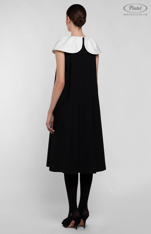 Платье женское Pintel™ Элегантное чёрное миди-платье А-силуэта Paloma - фото 4