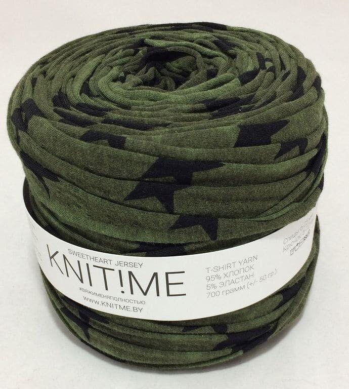 Товар для рукоделия Knit!Me Ленточная пряжа Sweetheart Jersey - Милитари (SJ085) - фото 1