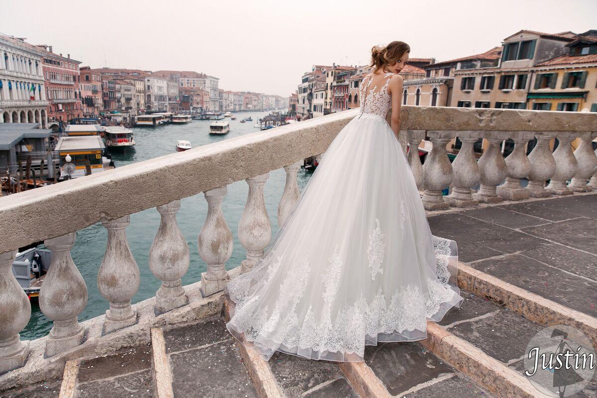 Свадебное платье напрокат Bonjour Платье свадебное «Justin» из коллекции LE DELICE 2018 - фото 3