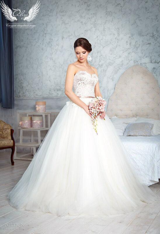 Свадебное платье напрокат ALIZA Платье свадебное «Amor» Soffito - фото 1