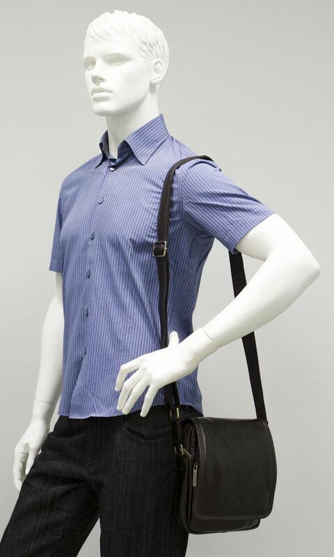 Магазин сумок Francesco Molinary Сумка мужская коричневая 513-36102-060 - фото 2