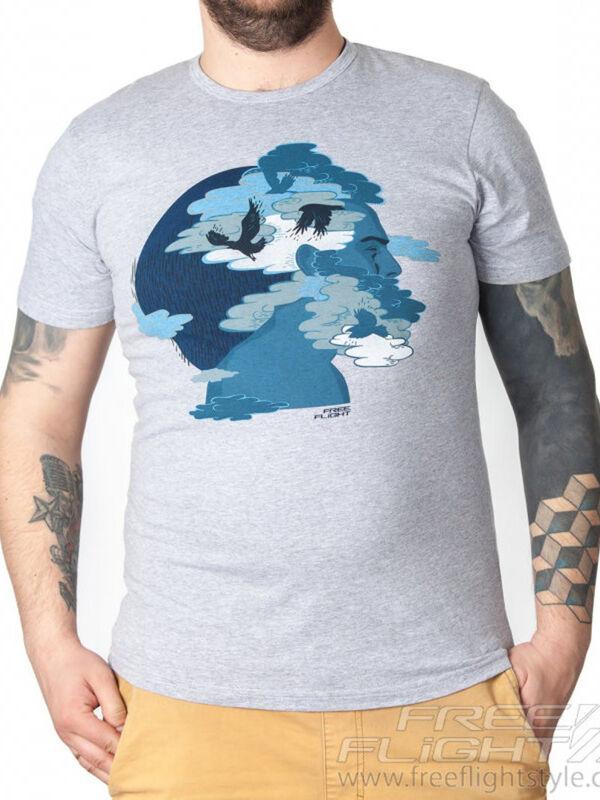 Кофта, рубашка, футболка мужская Free Flight Футболка «Мозги» SKU0036000 - фото 1
