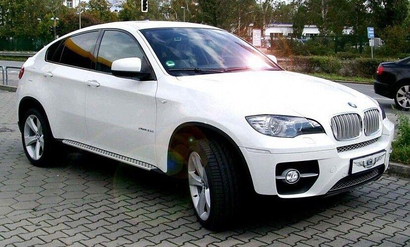 Прокат авто BMW X6 белого цвета - фото 1
