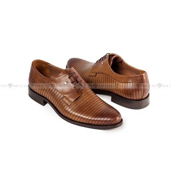 Обувь мужская Keyman Туфли мужские дерби капучино с декоративной прострочкой - фото 1