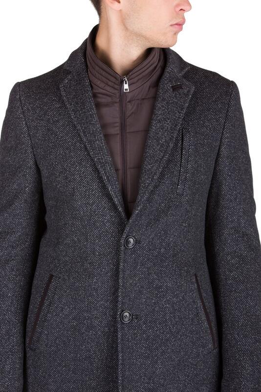 Верхняя одежда мужская HISTORIA Пальто серо-коричневое утепленное C.GrBr.M.cri001 - фото 3