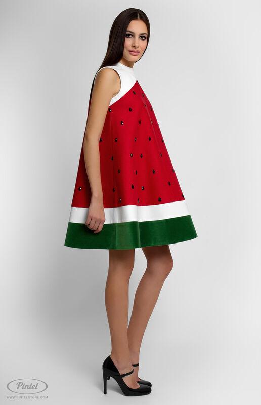 Платье женское Pintel™ Комбинированное мини-платье  Fati - фото 2