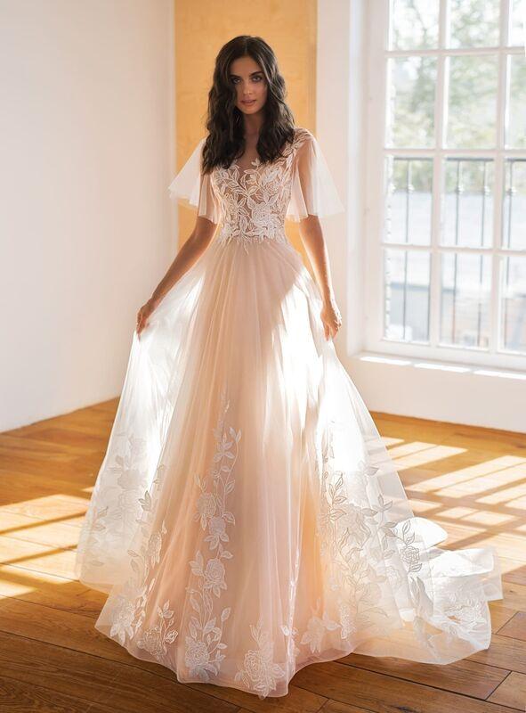 Свадебное платье напрокат Natalia Romanova Свадебное платье  Ester - фото 1