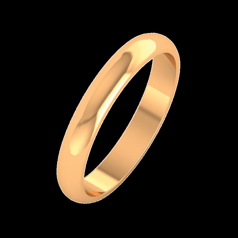 Ювелирный салон ZORKA Кольцо обручальное из розового золота 103004-9K - фото 1