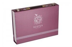 Подарок Ecotex Элитный комплект постельного белья 1.5 сп. Эстетика Белинда - фото 3