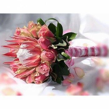 Магазин цветов Ветка сакуры Свадебный букет № 91 - фото 1