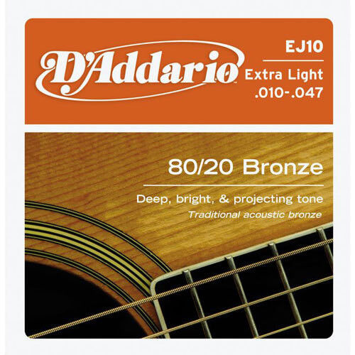 Музыкальный инструмент D'Addario Струны для гитары EJ10 - фото 1