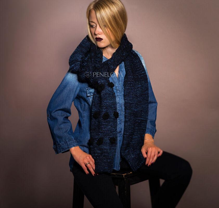 Шарф и платок PENELOPA Синий шарф-рукав M11 - фото 2