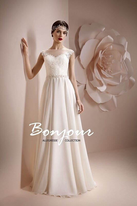 Свадебное платье напрокат Bonjour Платье свадебное «Maura» из коллекции ALLEGRESSE 2017 - фото 1