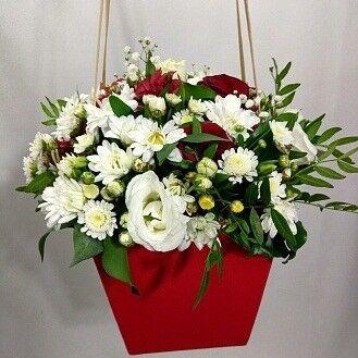 Магазин цветов Цветочник Коробка с ручками - фото 1