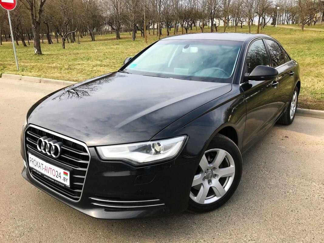 Прокат авто Audi A6 2014 черный - фото 2