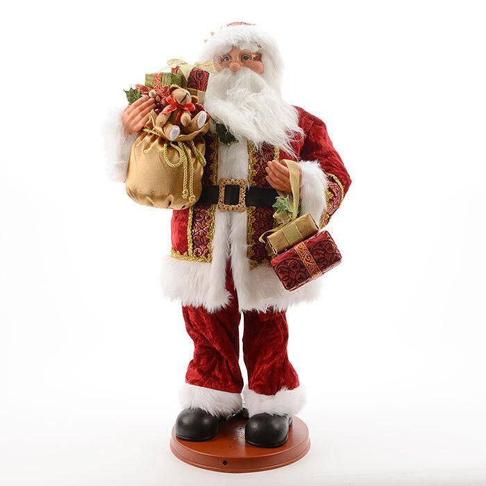 Подарок на Новый год mb déco Статуэтка новогодняя «Музыкальный санта танцующий» 548586/KG - фото 1