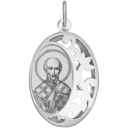Ювелирный салон Sokolov Серебряная иконка «Святитель архиепископ Николай Чудотворец» 94100235 - фото 1