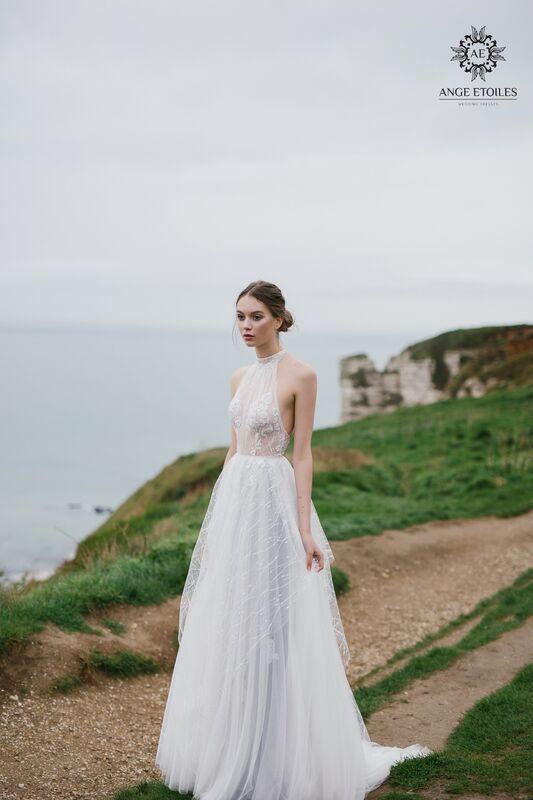 Свадебный салон Ange Etoiles Свадебное платье AEriality Collection  Seage - фото 1