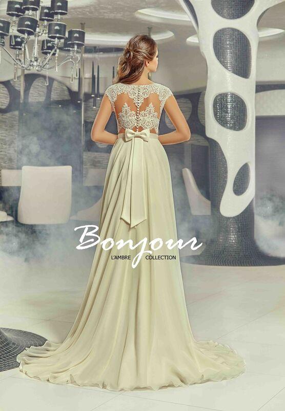 Свадебное платье напрокат Bonjour Платье свадебное «Lesli» из коллекции LAMBRE 2017 - фото 2