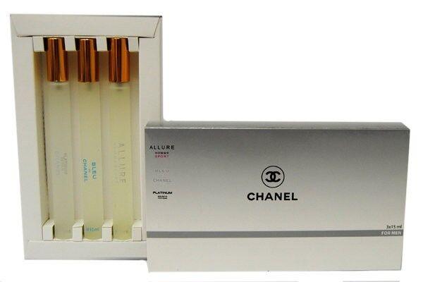 Парфюмерия Chanel Chanel подарочный набор men 3х15 - фото 1