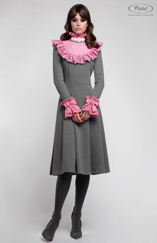 Платье женское Pintel™ Приталенное платье из натуральной шерсти Méeri - фото 2