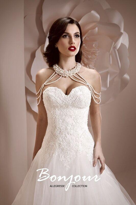 Свадебное платье напрокат Bonjour Платье свадебное «Alexis» из коллекции ALLEGRESSE 2017 - фото 1