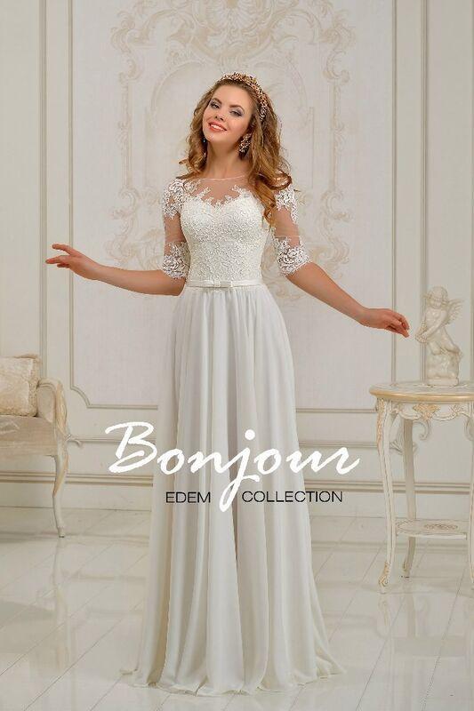Свадебное платье напрокат Bonjour Платье свадебное «Joséphine 2» из коллекции EDEM 2016 - фото 1