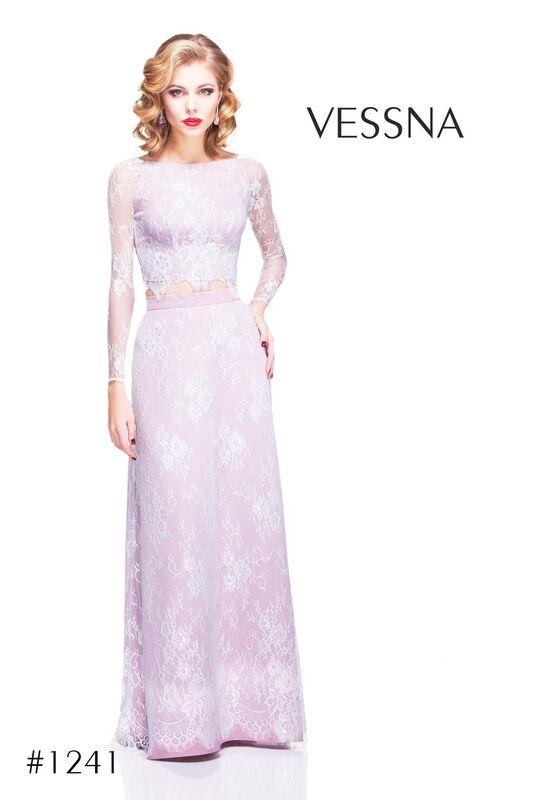 Вечернее платье Vessna Топ кружевной и Юбка длинная арт.1241 из коллекции VESSNA NEW - фото 1