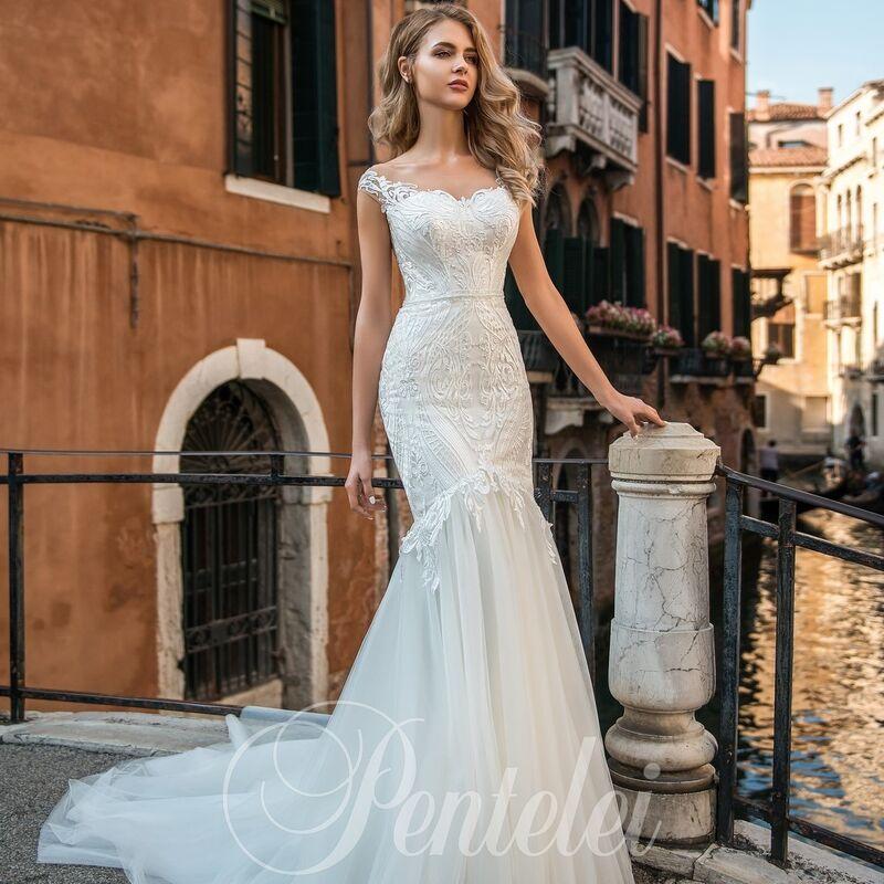 Свадебное платье напрокат Lavender Свадебное платье Felomena - фото 1