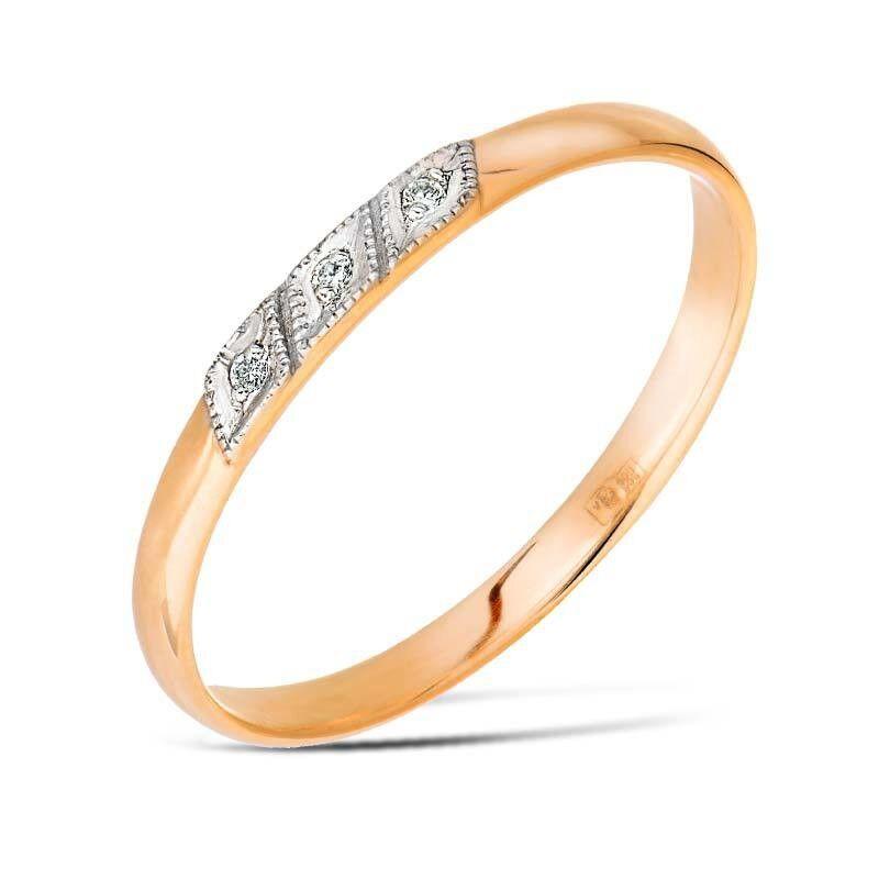 Ювелирный салон Jeweller Karat Кольцо обручальное с бриллиантами арт. 1211409/3 - фото 1