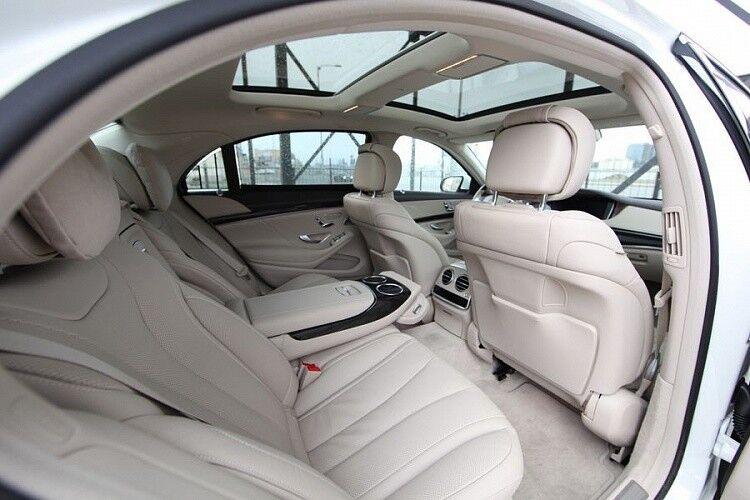 Прокат авто Mercedes-Benz W222 S-class белого цвета - фото 7