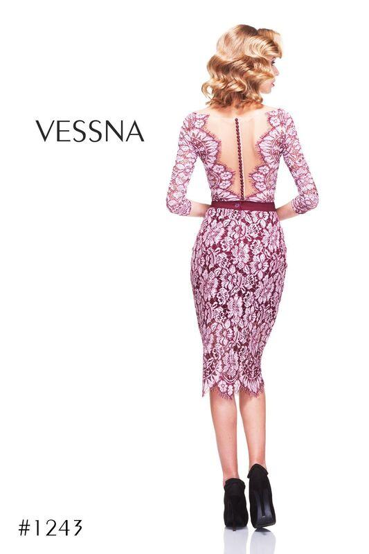 Вечернее платье Vessna Топ с пуговицами и Юбка миди арт.1243 из коллекции VESSNA NEW - фото 2