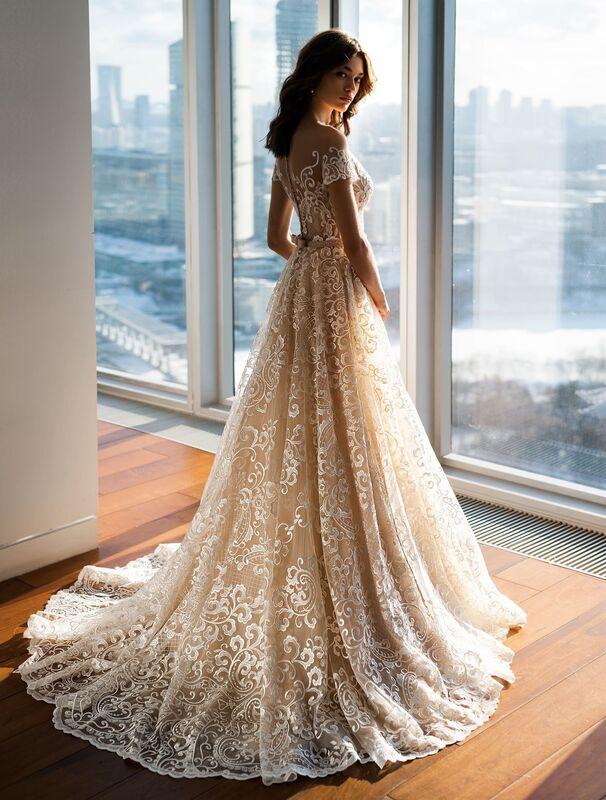Свадебное платье напрокат Natalia Romanova Свадебное платье  Letitsiya - фото 2