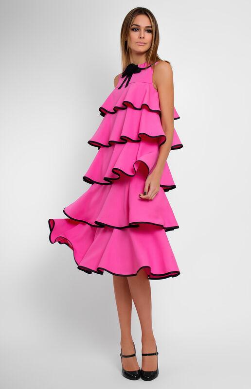 Платье женское Pintel™ Платье с воланами без рукавов Suvinja - фото 1