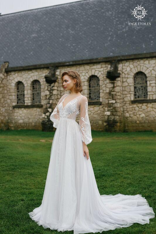 Свадебное платье напрокат Ange Etoiles Платье свадебное AEriality Collection  Luna - фото 1