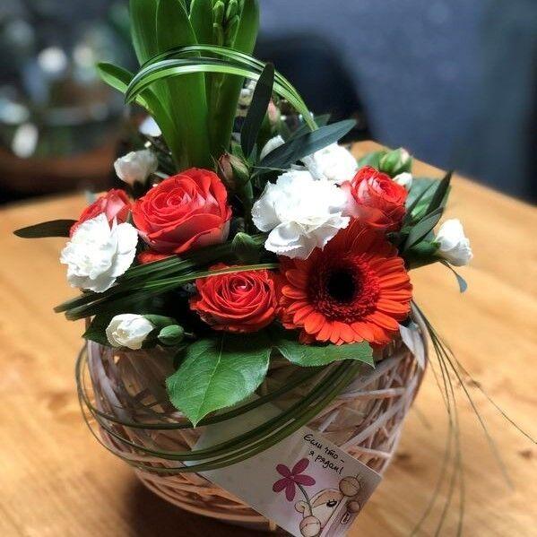 Магазин цветов Кошык кветак Букет - композиция в корзине №2 - фото 1