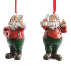 Елка и украшение mb déco Елочная игрушка «Санта делает селфи» на подвесе - фото 1