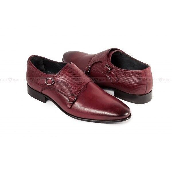 Обувь мужская Keyman Туфли мужские дабл монки бордо - фото 1