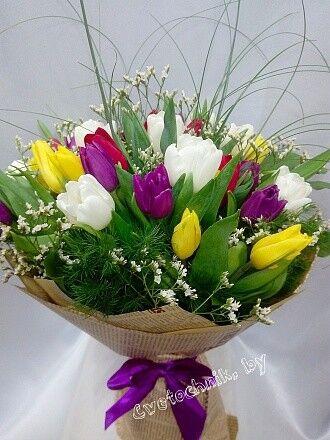Магазин цветов Цветочник Яркий букет из тюльпанов - фото 2