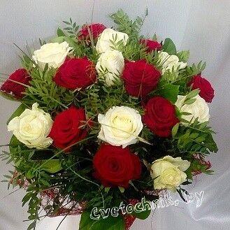 Магазин цветов Цветочник Букет из 17-ти роз - фото 1