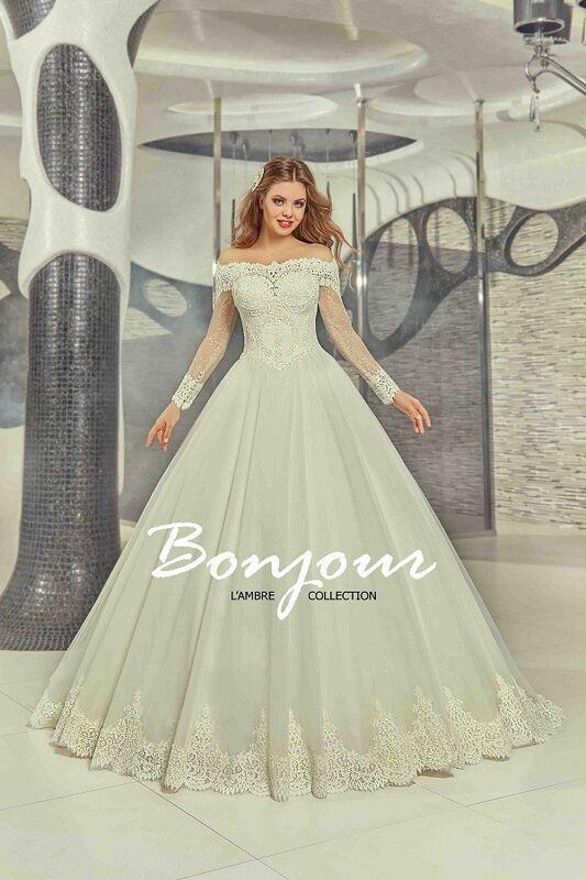 Свадебное платье напрокат Bonjour Платье свадебное «Carli» из коллекции LAMBRE 2017 - фото 1