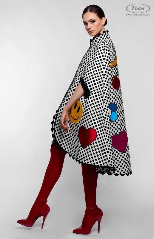 Верхняя одежда женская Pintel™ Романтичный кейп в горошек Jacqueline - фото 2