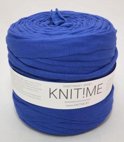 Товар для рукоделия Knit!Me Ленточная пряжа Sweetheart Jersey - Синяя птица (SJ014) - фото 1